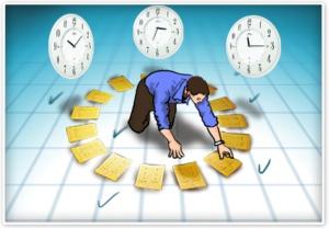 Organizar las actividades de manera tal que podamos realizar la tarea terrenal y la espirtual