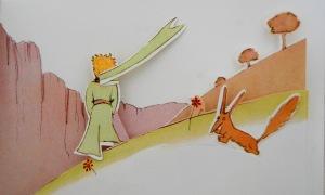 Al despedirse, el zorro le regala a El Principito una perla de sabiduría.