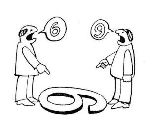 Nos empeñamos en defender nuestros puntos  de vista sin tomarnos el tiempo de ver otras verdades.